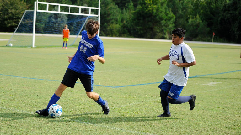 Polk Middle claims pair of one-goal victories