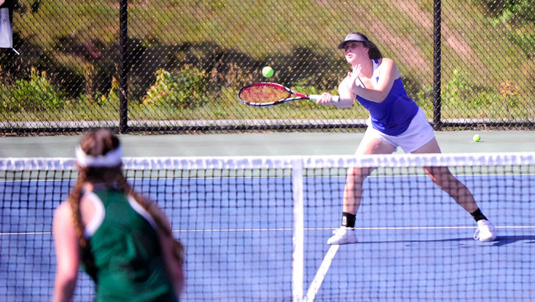 Polk doubles its fun with tennis sweep of Mountain Heritage