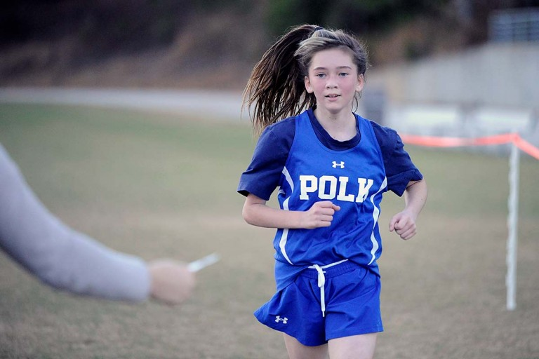 Sanchez, Savaia head Polk Middle effort at conference track and field finals