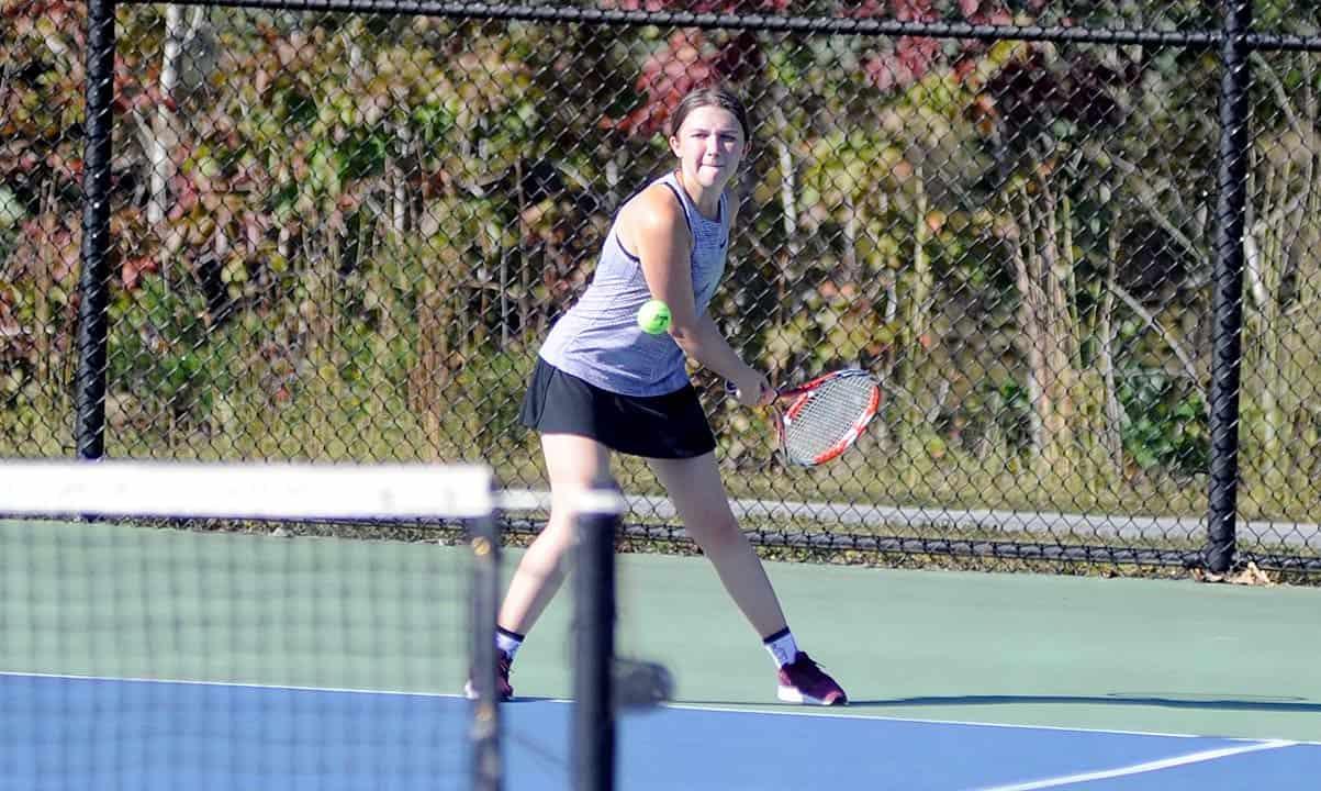 Champs again: Polk clinches share of WHC girls tennis crown