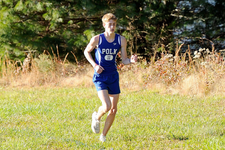 Second-place efforts theme of day for Polk runners