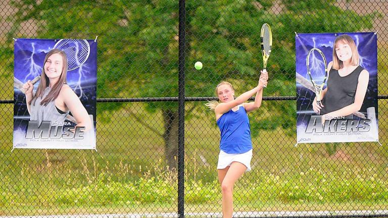 Polk sweeps Avery in long-awaited girls tennis opener