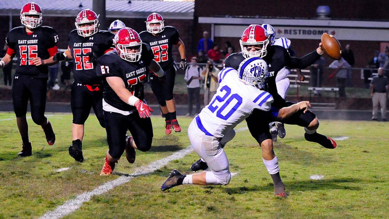 East Surry rides second-half momentum surge to defeat Polk County in West final