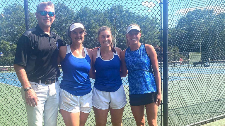 Griffin, Hall and Muse ousted at 1A West Regional tennis tourney