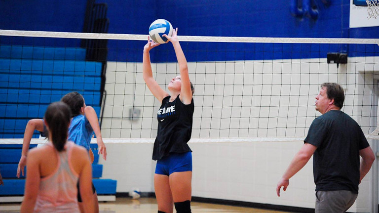 Photos: Polk volleyball preps for season, settles rosters