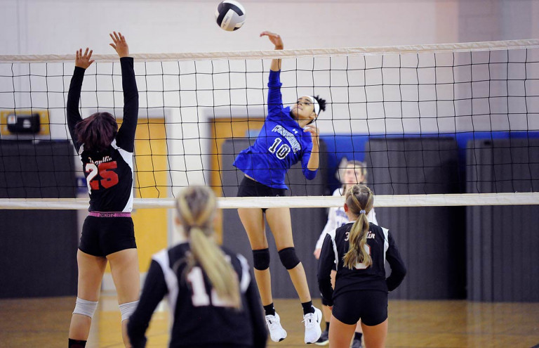 Polk Middle tops Apple Valley in straight sets