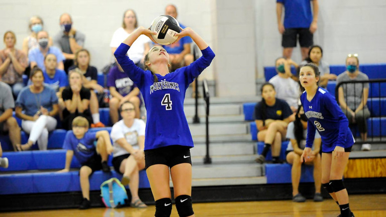 Polk Middle bounces Macon Middle in straight sets