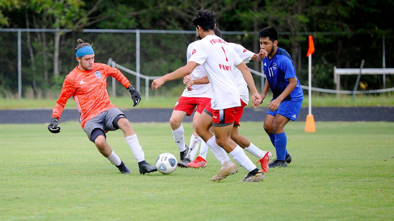 Franklin rallies late to force tie in Polk's home opener